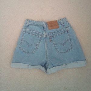 Vintage orange tab 954 Levi's jean shorts